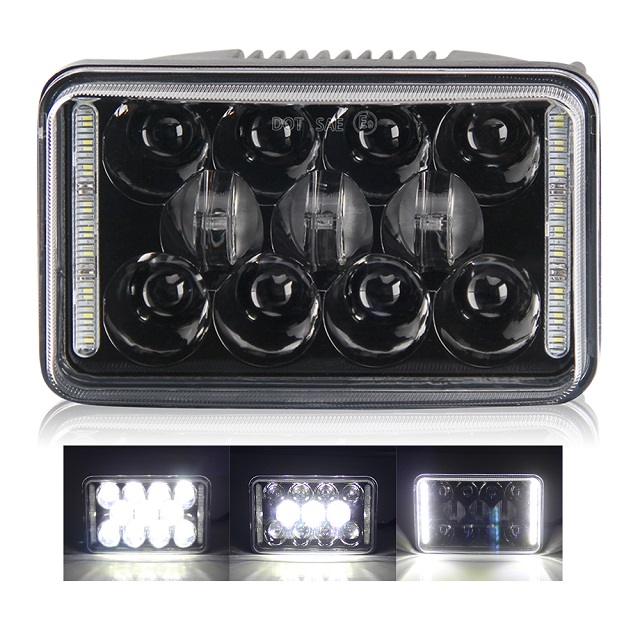 4x6 Angel Eyes Automotive Rectangle Led Headlight 1002WM