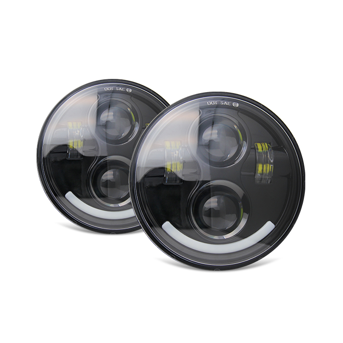 "CE DOT White 5.75"" Inch 20W Led Headlights for car JG-M002A"