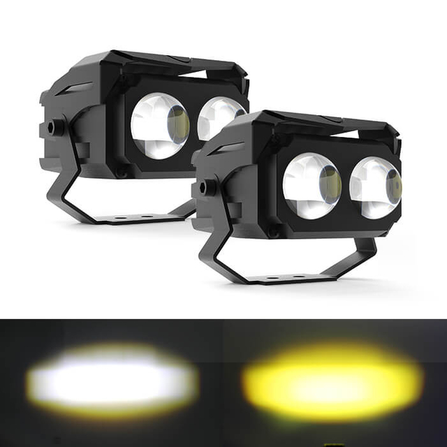 Wide Working Volt External Dual-Color Led Work Light with Two Lens JG-993C