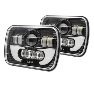 Rectangle GMC 5x7 Angel Eye Led Headlight JG-T002N